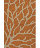 RugStudio presents Jaipur Rugs Coastal I-O Coral Ci27 Orange/Gray Hand-Hooked Area Rug