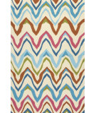 RugStudio presents Jaipur Rugs Coastal I-O Bahia Ci29 White/Blue Hand-Hooked Area Rug