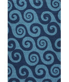 RugStudio presents Jaipur Rugs Coastal I-O Wave Hello Ci30 Navy/Blue Hand-Hooked Area Rug
