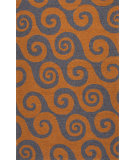 RugStudio presents Jaipur Rugs Coastal I-O Wave Hello Ci31 Orange/Gray Hand-Hooked Area Rug
