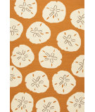 RugStudio presents Jaipur Rugs Coastal I-O Sand Dollar Ci39 Orange/White Hand-Hooked Area Rug