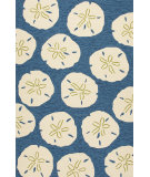 RugStudio presents Jaipur Rugs Coastal I-O Sand Dollar Ci40 Navy/White Hand-Hooked Area Rug