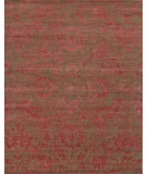 RugStudio presents Jaipur Rugs Chaos Theory By Kavi Gaya Ckv16 Clay/Velvet Red Hand-Knotted, Good Quality Area Rug