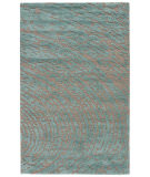 RugStudio presents Jaipur Rugs Clayton Daizy Cln09 Medium Gray & Aruba Blue Hand-Tufted, Good Quality Area Rug