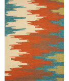 RugStudio presents Jaipur Rugs Colours Flame Stitched Co06 Rust Hand-Hooked Area Rug
