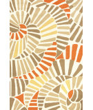 RugStudio presents Jaipur Rugs Colours Whirligig Co11 Brown/Orange Hand-Hooked Area Rug