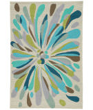 RugStudio presents Jaipur Rugs Colours Flowerburst Co16 Light Gray Area Rug