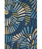 RugStudio presents Jaipur Rugs Colours Whirligig Co17 Blue Hand-Hooked Area Rug
