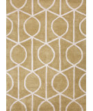 RugStudio presents Rugstudio Sample Sale 74831R Paradise Green / Cloud White Hand-Tufted, Good Quality Area Rug