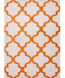 RugStudio presents Jaipur Rugs City Miami Ct22 White / Sun Orange Hand-Tufted, Good Quality Area Rug