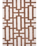 RugStudio presents Rugstudio Sample Sale 74819R Antique White / Cocoa Brown Hand-Tufted, Good Quality Area Rug