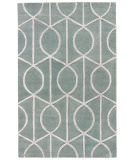 RugStudio presents Rugstudio Sample Sale 103095R Seaside Blue Hand-Tufted, Good Quality Area Rug