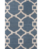 RugStudio presents Rugstudio Sample Sale 109690R Aegean Blue/Antique White Hand-Tufted, Good Quality Area Rug