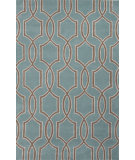RugStudio presents Jaipur Rugs City Pensacola Ct56 Light Turquoise/Dark Taupe Hand-Tufted, Good Quality Area Rug