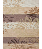 RugStudio presents Jaipur Rugs Fusion Flower Power Fn18 Chestnut Hand-Tufted, Good Quality Area Rug