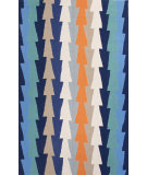 RugStudio presents Jaipur Rugs Fusion Stairstep Fn26 Blue Hand-Tufted, Good Quality Area Rug