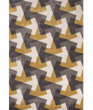 RugStudio presents Jaipur Rugs Fusion Tesselation Fn29 Gold/Gray Hand-Tufted, Good Quality Area Rug