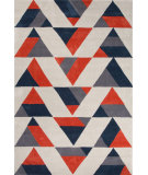 RugStudio presents Jaipur Rugs Fusion Angular Fn31 Dark Beige/Red Hand-Tufted, Good Quality Area Rug