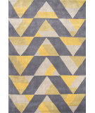 RugStudio presents Jaipur Rugs Fusion Angular Fn32 Yellow/Gray Hand-Tufted, Good Quality Area Rug