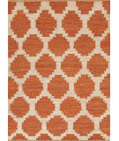 RugStudio presents Rugstudio Sample Sale 74869R Red Orange / Ivory Cream Flat-Woven Area Rug