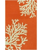 RugStudio presents Jaipur Rugs Grant Design Indoor/Outdoor Bough Out GD01 Orange/Gray Hand-Hooked Area Rug