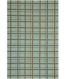 RugStudio presents Jaipur Rugs Grant Design I-O On The Fence GD12 Light Blue/Light Blue Hand-Hooked Area Rug