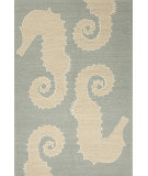RugStudio presents Jaipur Rugs Grant I-O Seahorse Gd27 Slate Blue Machine Woven, Better Quality Area Rug