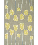 RugStudio presents Jaipur Rugs Grant I-O Tulips Gd32 Smoke Blue Hand-Hooked Area Rug