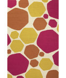 RugStudio presents Jaipur Rugs Grant I-O Rock It To Me Gd34 Beige/Pink Hand-Hooked Area Rug