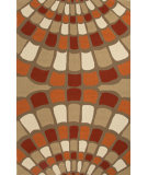 RugStudio presents Jaipur Rugs Grant I-O Shellfish Gd38 Red Hand-Hooked Area Rug