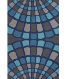 RugStudio presents Jaipur Rugs Grant I-O Shellfish Gd39 Blue Hand-Hooked Area Rug