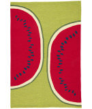 RugStudio presents Jaipur Rugs Grant I-O Watermelon Gd40 Red/Green Hand-Hooked Area Rug