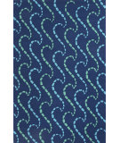 RugStudio presents Jaipur Rugs Grant I-O Ray Hello Gd41 Blue Hand-Hooked Area Rug