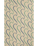 RugStudio presents Jaipur Rugs Grant I-O Ray Hello Gd42 White/Green Hand-Hooked Area Rug