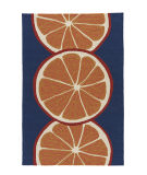 RugStudio presents Jaipur Rugs Grant I-O Citrus Gd44 Navy/Orange Hand-Hooked Area Rug
