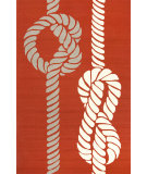 RugStudio presents Jaipur Rugs Grant I-O Knotty Gd45 Red/White Hand-Hooked Area Rug