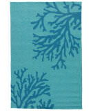RugStudio presents Jaipur Rugs Grant I-O Bough Out Gd50 Peacock Blue/Mosaic Blue Hand-Hooked Area Rug