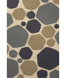 RugStudio presents Jaipur Rugs Grant I-O Rock It To Me Gd51 Beige & Blue Hand-Hooked Area Rug