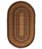 RugStudio presents Jaipur Rugs Hudson Jute Braided Rugs Timber Trail Hbr07 Taupe/Red Braided Area Rug