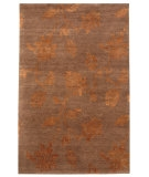 RugStudio presents Rugstudio Sample Sale 53395R Dark Brown Hand-Knotted, Good Quality Area Rug