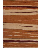RugStudio presents Rugstudio Sample Sale 75127R Dark Copper Hand-Knotted, Better Quality Area Rug