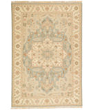 RugStudio presents Jaipur Rugs Jaimak Barda Jm06 Stone Blue / Soft Gold Hand-Knotted, Good Quality Area Rug