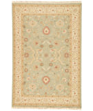 RugStudio presents Jaipur Rugs Jaimak Kolos Jm09 Sea Green / Dark Ivory Hand-Knotted, Good Quality Area Rug