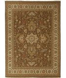 RugStudio presents Jaipur Rugs Jaimak Margara Jm16 Cocoa Brown / Soft Gold Hand-Knotted, Good Quality Area Rug