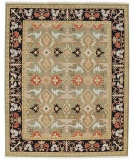 RugStudio presents Rugstudio Sample Sale 53413R Deep Green/Ebony Hand-Knotted, Good Quality Area Rug