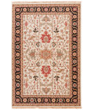 RugStudio presents Rugstudio Sample Sale 75147R Dark Ivory / Ebony Hand-Knotted, Better Quality Area Rug