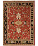 RugStudio presents Jaipur Rugs Jaimak Margara Jm24 Red / Ebony Hand-Knotted, Better Quality Area Rug
