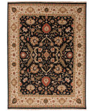 RugStudio presents Jaipur Rugs Jaimak Kolos Jm25 Ebony / Light Gold Hand-Knotted, Better Quality Area Rug