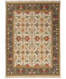 RugStudio presents Rugstudio Sample Sale 75152R Dark Ivory / Marine Blue Hand-Knotted, Better Quality Area Rug