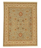 RugStudio presents Rugstudio Sample Sale 53419R Sea Green/Dark Ivory Hand-Knotted, Good Quality Area Rug
